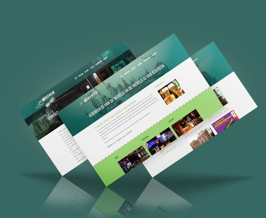 Cafe Zaal de Wereld responsive website