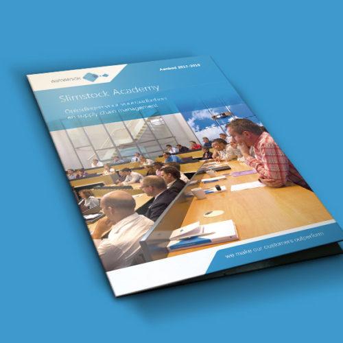 Slimstock Academy brochure mockup 2
