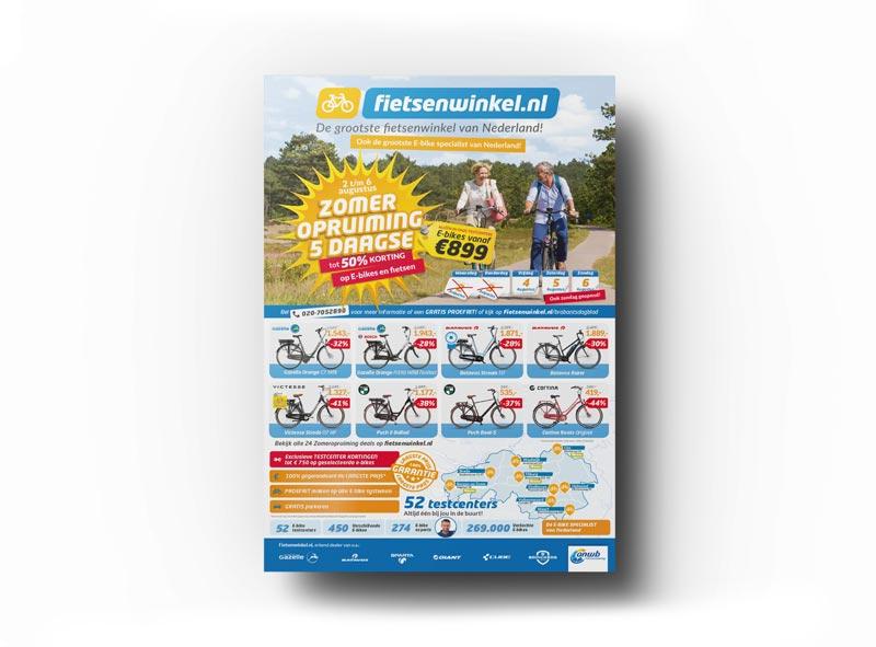 fietsenwinkel advertentie