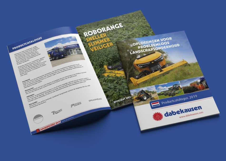 Dabekausen prijslijst brochure magazine