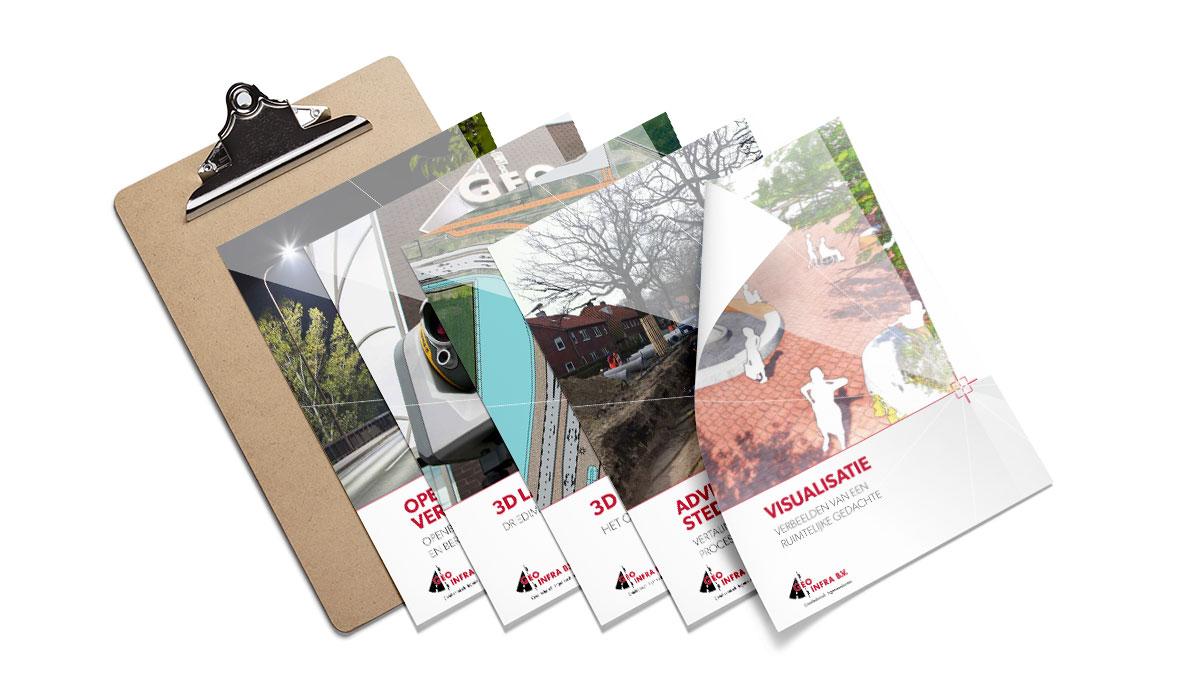 Huisstijl Geo Infra leaflets