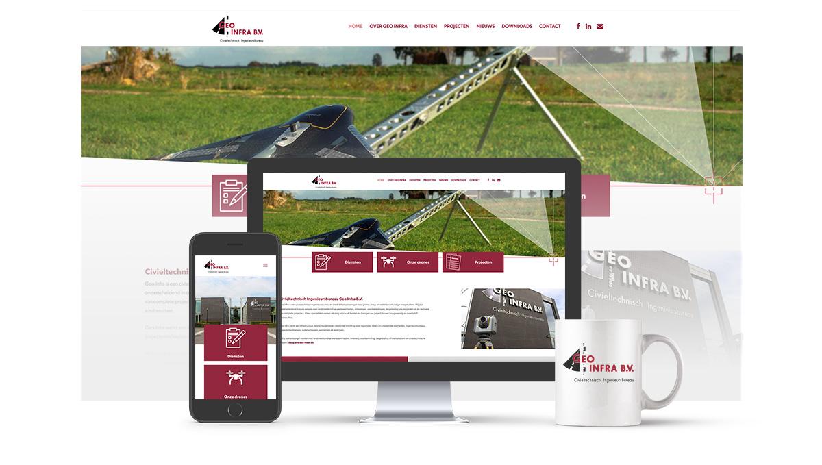 Responsive website Geo Infra