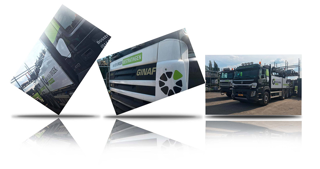Van den Broek bestratingen truck